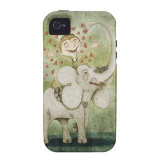 Elephant Funny fantastic tender and imaginative iPhone 4 Carcasa