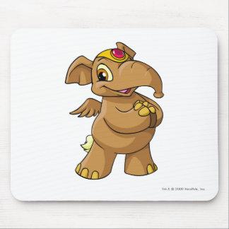 Elephante Brown Alfombrilla De Ratón