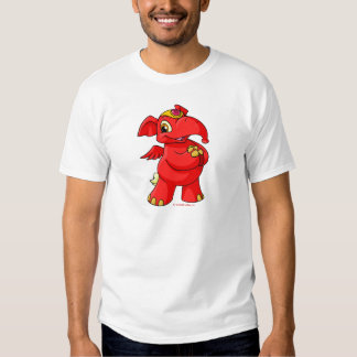 Elephante rojo alegre camiseta