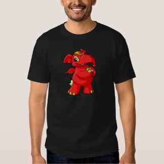 Elephante rojo alegre camisetas