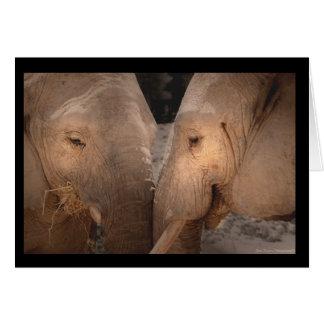 Elephants sisters Greeting Card-Tarjeta cumple Tarjeta De Felicitación
