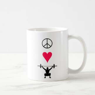 Elevación del amor de la paz - taza