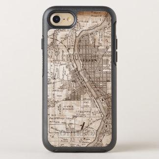 Elgin Illlinois 1870 Plat el centro de la ciudad Funda OtterBox Symmetry Para iPhone 8/7