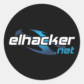 elhacker.net black pegatina redonda