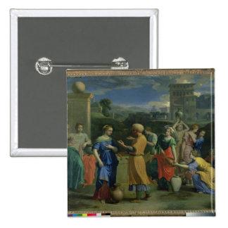 Eliezer y Rebecca en bien, 1648 (aceite en canv Pins