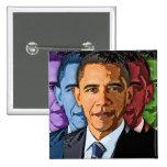 Elija a Barack Obama para el presidente Chapa Cuadrada 5 Cm