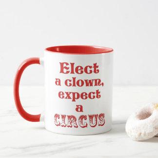 ¡Elija a un payaso, cuente con un circo! Taza anti