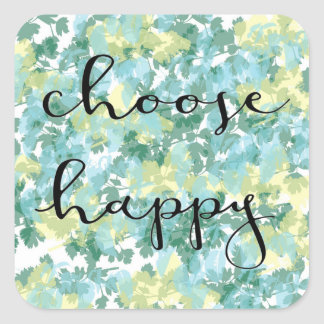 elija al pegatina feliz