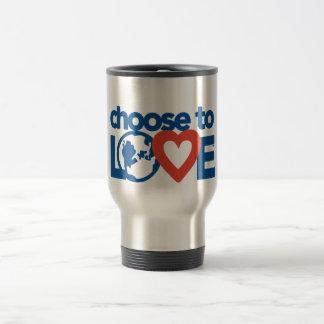 Elija amar la taza del viaje del viajero del acero