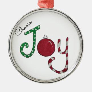 Elija el ornamento de la alegría