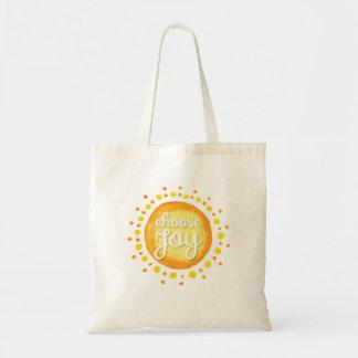 Elija la bolsa de asas de la alegría