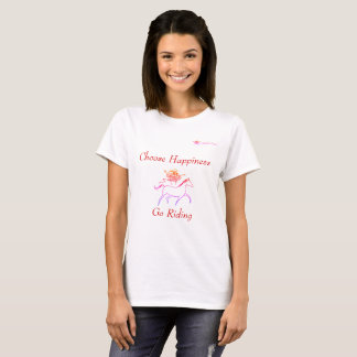 Elija la felicidad - vaya a montar camiseta