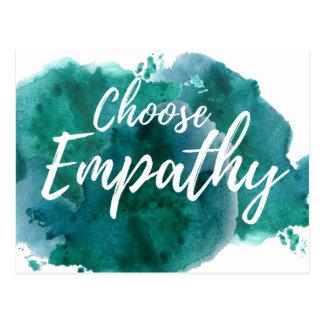 Elija la postal de la protesta de la empatía