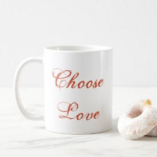 Elija la taza del amor