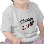 Elija la vida camisetas