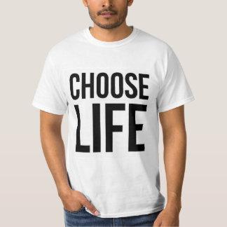 Elija Prolife clásico del vintage de la vida 80s Camiseta