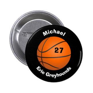 Elija su baloncesto personalizado color II del Chapa Redonda De 5 Cm