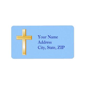 Elija su cruz del cristiano del color de fondo etiquetas de dirección