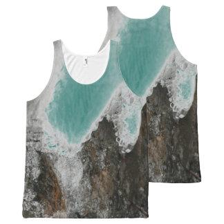 Elija sus carámbanos del río del color camiseta de tirantes con estampado integral