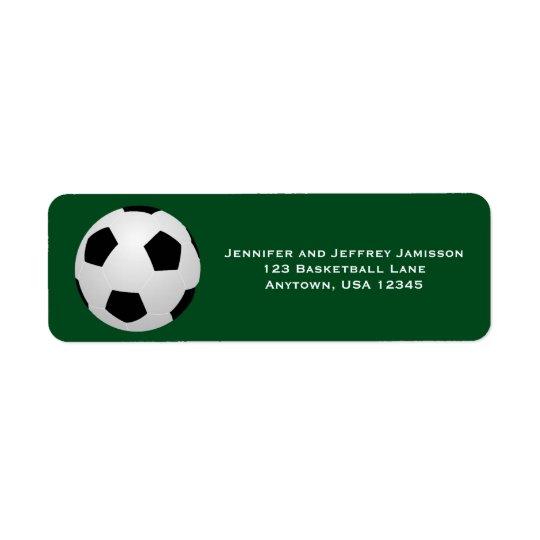 ELIJA SUS etiquetas del remite del fútbol del