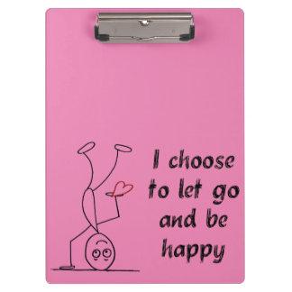 Elijo dejar para ir y para ser feliz carpeta de pinza
