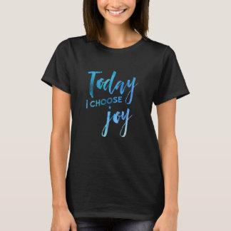 Elijo hoy la fe cristiana de la acuarela de la camiseta