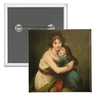 Elisabeth y su hija chapa cuadrada