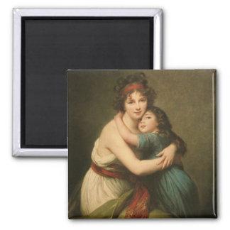 Elisabeth y su hija imanes
