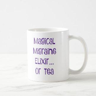 Elixir mágico de la jaqueca…. té taza básica blanca