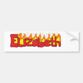 Elizabeth 3 pegatina para coche