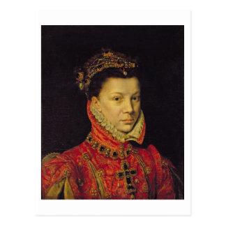 Elizabeth de Valois (1545-68) 1570 (aceite en Postal