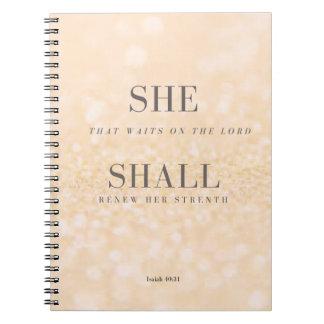 ELLA 40:31 de Isaías del cuaderno