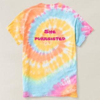 Ella camisa del gato del arco iris de Purrsisted