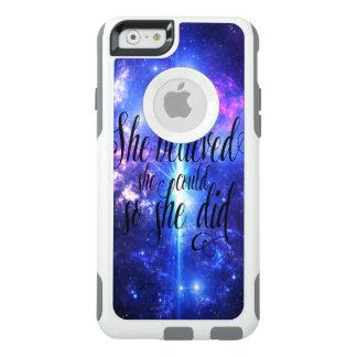 Ella creyó en cielos iridiscentes funda otterbox para iPhone 6/6s