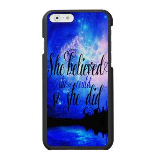 Ella creyó en noches estrelladas funda cartera para iPhone 6 watson