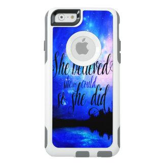 Ella creyó en noches estrelladas funda otterbox para iPhone 6/6s