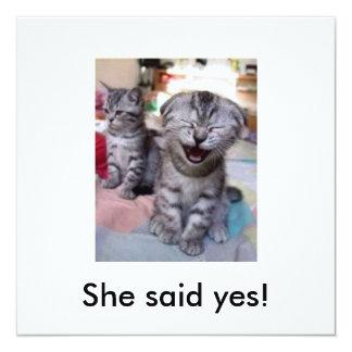¡Ella dijo sí! Invitación 13,3 Cm X 13,3cm