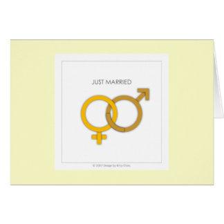 ella+él:: Apenas casado Tarjetas