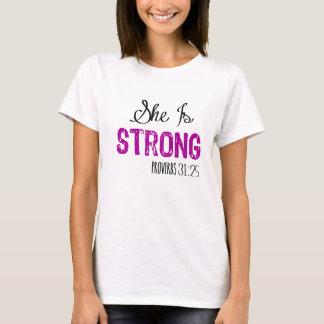 Ella es la camiseta de las mujeres cristianas