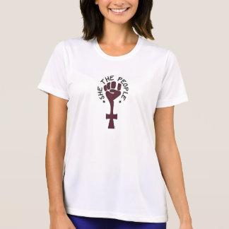 Ella la camiseta del Dri-Ajuste de la gente