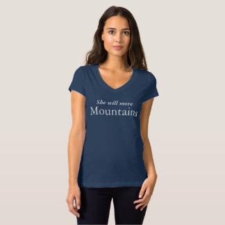 Ella moverá a las mujeres de las montañas con camiseta