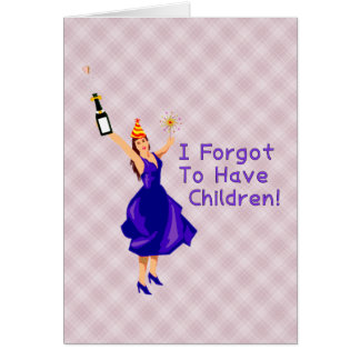 Ella olvidó tener niños tarjeta de felicitación