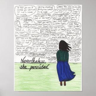 Ella persistió (las mujeres solteras) póster