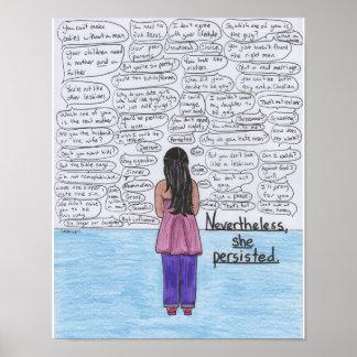 Ella persistió (lesbiana) 11x14 póster