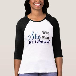 Ella que debe ser camiseta del jersey de las