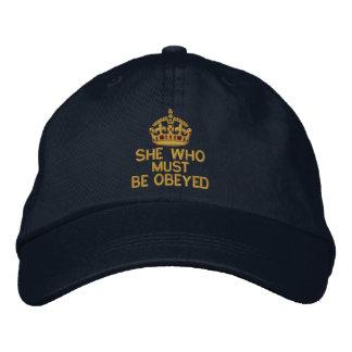 Ella que debe ser obedecida guarda la corona gorra de béisbol bordada