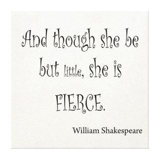 Ella sea pero poco ella es cita feroz de Shakespea