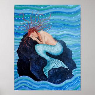 Ella soña el poster de la sirena de los sueños del póster