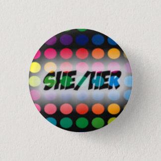 Ella/su botón del pronombre