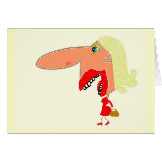 Ella tenía la risa pasada tarjeta de felicitación